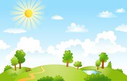 Wektorowa ilustracja piękny krajobraz Zdjęcia Stock