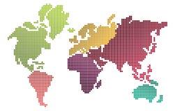 Piksel światowa mapa Obraz Royalty Free