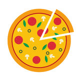 Wektorowa ilustracja pizza Fotografia Stock