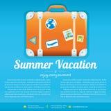 Wektorowa ilustracja podróży walizka Obraz Royalty Free