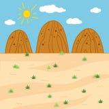 Wektorowa ilustracja (pogodny safari dzień) Obrazy Royalty Free