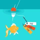 Wektorowa ilustracja pokazuje chwytliwą etykietkę Zdjęcia Stock