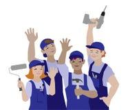 Wektorowa ilustracja pracować drużyny, rzemieślnicy ilustracji