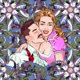 Wektorowa ilustracja przedstawia kilka kochanków ilustracja wektor
