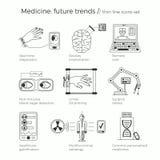 Wektorowa ilustracja przyszłościowi medycyna trendy Fotografia Stock