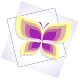 Wektorowa ilustracja purpurowy abstrakcjonistyczny motyl Zdjęcia Royalty Free