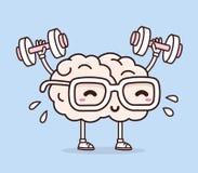 Wektorowa ilustracja retro pastelowego koloru uśmiechu menchii mózg z Obrazy Royalty Free