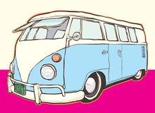 Wektorowa ilustracja retro podróży van†'zapasu ilustracja ilustracja wektor