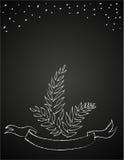 Kreda kwitnie na blackboard ilustracji