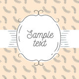 Wektorowa ilustracja rocznik rama i tło Szablon dla kartka z pozdrowieniami, ślubnego zaproszenia lub menu, Zdjęcia Stock