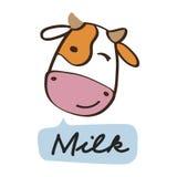 Wektorowa ilustracja rozochocona krowa Zdjęcie Royalty Free
