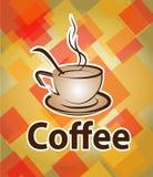 Wektorowa ilustracja rysować filiżankę z kawą i kawowa łyżka, ilustracja wektor