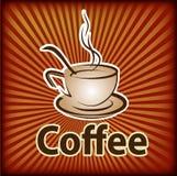 Wektorowa ilustracja rysować filiżankę z kawą i kawowa łyżka, ilustracji