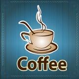 Wektorowa ilustracja rysować filiżankę z kawą i kawowa łyżka, royalty ilustracja