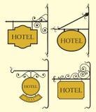 Set hotelu znaka deska Fotografia Royalty Free