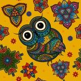 Wektorowa ilustracja sowa Ptak ilustrujący wewnątrz Zdjęcia Stock