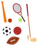 Wektorowa ilustracja sportów equipments Obrazy Royalty Free
