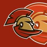 Wektorowa ilustracja, sporta logo Spartański wojownik, obrońca, bohater Obraz Royalty Free
