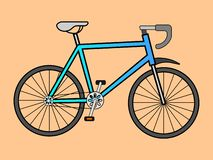 Wektorowa ilustracja sporty rowerowi ilustracja wektor