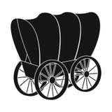 Wektorowa ilustracja stagecoach i furgonu symbol Kolekcja stagecoach i przejażdżki wektorowa ikona dla zapasu royalty ilustracja