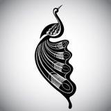 Wektorowa ilustracja stylizowany ptak Obraz Royalty Free