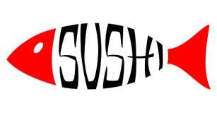Wektorowa Ilustracja, suszi ryba royalty ilustracja
