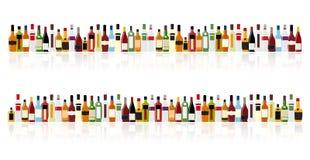 Wektorowa ilustracja sylwetka alkoholu butelka Fotografia Royalty Free