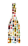 Wektorowa ilustracja sylwetka alkoholu butelka Fotografia Stock