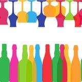Wektorowa ilustracja sylwetka alkoholu butelka Zdjęcie Royalty Free
