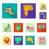 Wektorowa ilustracja szalika i chusty logo Kolekcja szalika i akcesorium akcyjna wektorowa ilustracja ilustracji