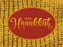 Wektorowa ilustracja Szczęśliwy Hanukkah dla plakata, kalendarza, kartki z pozdrowieniami lub pocztówki typografii, ilustracja wektor
