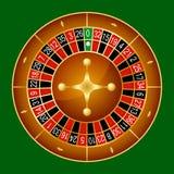 Wektorowa ilustracja szczegółowy kasynowy ruletowy koło ilustracja wektor