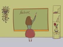 Wektorowa ilustracja szkolny pokój Zdjęcie Stock