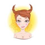 Wektorowa ilustracja Taurus zodiaka znak Ilustracja Wektor