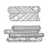 Wektorowa ilustracja tkanin rolki ilustracji