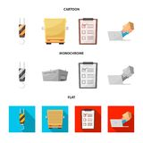 Wektorowa ilustracja towary i ładunek ikona Set towary i magazynowy akcyjny symbol dla sieci ilustracji