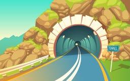 Wektorowa ilustracja tunel, autostrada Podziemna droga