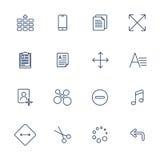 Wektorowa ilustracja ustawiająca nad bieliźnianą teksturą apps ikona Zdjęcie Royalty Free