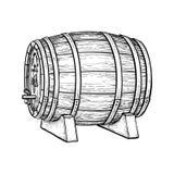 Wektorowa ilustracja wino baryłka Obrazy Royalty Free
