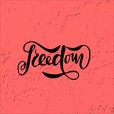 Wektorowa ilustracja wolność z inskrypcją dla packin Fotografia Royalty Free