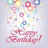 Wektorowa ilustracja wszystkiego najlepszego z okazji urodzin kartka z pozdrowieniami Fotografia Stock