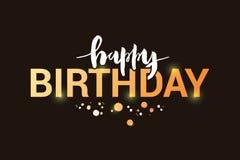Wektorowa ilustracja wszystkiego najlepszego z okazji urodzin tytuł dla kartki z pozdrowieniami, zaproszenie ilustracji