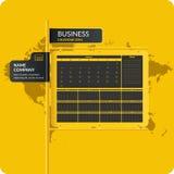 Wektorowa ilustracja z biznesu kalendarzem 2016 i mapą ilustracja wektor