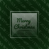 Wektorowa ilustracja z Bożenarodzeniowym tematem Boże Narodzenia deseniują dla opakunkowego papieru na ciemnozielonym tle Ilustracji