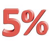 5% Wektorowa ilustracja z 3D skutkiem Fotografia Royalty Free
