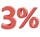 3% Wektorowa ilustracja z 3D skutkiem Obrazy Stock