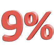 9% Wektorowa ilustracja z 3D skutkiem Zdjęcie Stock