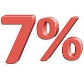 7% Wektorowa ilustracja z 3D skutkiem Zdjęcie Royalty Free