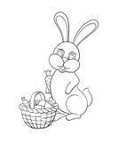 Wektorowa ilustracja z królikiem Zdjęcia Royalty Free