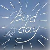 Wektorowa ilustracja z Międzynarodowym Ptasim dniem Obrazy Royalty Free